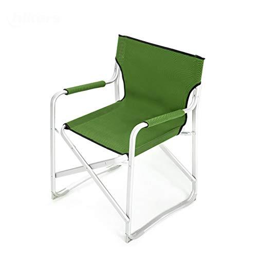 Chaise de camp pliante , Dossier robuste et confortable Extérieur Portable Directeur Beach Sketch Pêche Chaise de pliage Chaise de voiture (Couleur : Green)