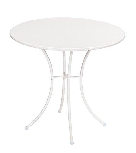 Emu 309062300 Pigalle Tisch 906, ø 80 cm, pulverbeschichteter Stahl, matt weiss