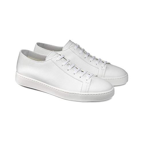 Santoni Sneakers Homme Tennis - Blanc - Blanc, 40.5 EU EU