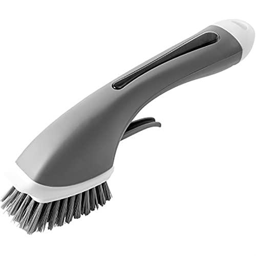 Cepillo de limpieza Dispensador de jabón Mango largo Fregadero PP Cepillo Accesorios de cocina Suministros de limpieza Cepillo de plato Cepillo de cocina (Color : Gray)
