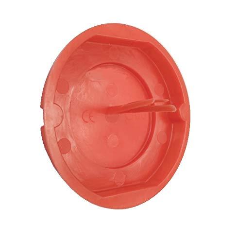 50 Stück Putzdeckel Signaldeckel Deckel rot Ø 60mm für Schalterdosen