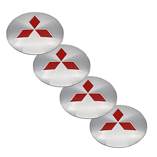 4 unids rueda centro cubo cubierta 56 mm logo pegatina, utilizado para Mitsubishi-LOGO modificación personalizada pegatina, etiqueta de centro de rueda