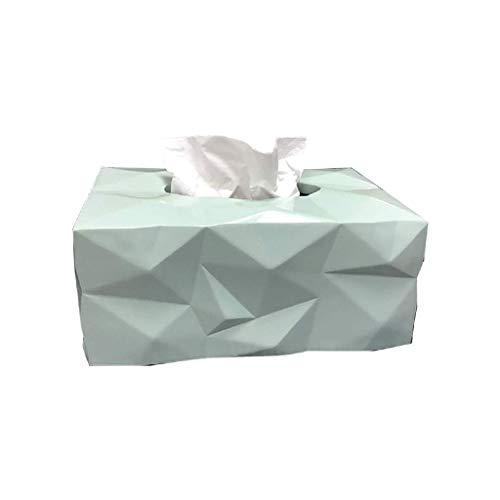 GFDFD Tejido de Resina Caja- Caja Creativa del Tejido olores Cubierta Rectangular, Decorativo de baño Tejidos servilleta de Papel Titular- Resina rectángulo servilletas de contenedores