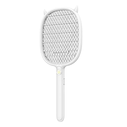 SHAIYOU Raqueta Mosquitos Eléctrico,USB Recargable Raqueta Matamoscas Eléctrica Zapper Plagas Insectos Asesino,Lámpara De Trampa De Mosquitos UV para Mosquitos Moscas Abejas