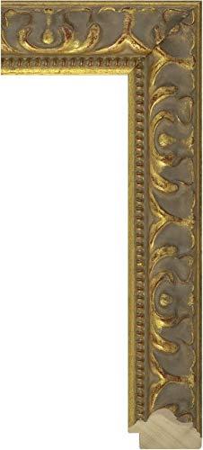 Ramendo Holz-Bilderrahmen Medici - Florentiner Gold, verziert, antik - 48 mm, Museumsglas Clarity AR99 im Format 30x30 cm online bestellen