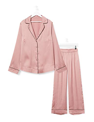 Iris & Lilly Damen Pyjama-Set aus Baumwolle, Rosa (Rose), S, Label: S