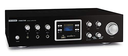 Fonestar AS-123RUB - Amplificador Karaoke MP3/FM/BT