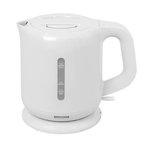 [山善]電気ケトル1.0L沸騰自動OFF機能付きホワイトDKE-100(W)[メーカー保証1年]