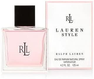 Lauren Style by Ralph Lauren for Women, Eau De Parfum Natural Spray, 4.2 Ounce Unboxed