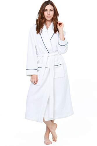 Jones New York Women's 48'' Wrap Spa Plush Robe (Large/X-Large, White)