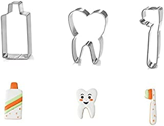 Astra shop 3-Piece Tooth Brush/Teeth/ Toothpaste Cookie Cutters Set in Durable Stainless Steel