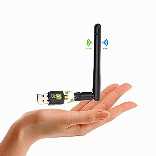 Adattatore WiFi USB 1200Mbps,Chiavetta WiFi USB Dual Band 2.4GHz&5GHz,Antenna WiFi USB per PC Gaming, Adattatore WiFi Alto Guadagno, Compatibile con Windows 10/8.1/8/7/XP e Mac OS X
