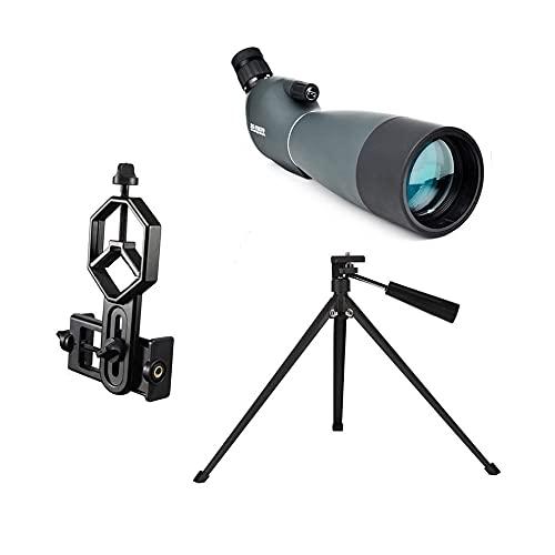 LHQ-HQ Scope Scope SV28 Telescopio Zoom 25-75X 70mm A Prueba de Agua Avance BirdWatch Hunting Monocular y Universal Adaptador de teléfono Montaje