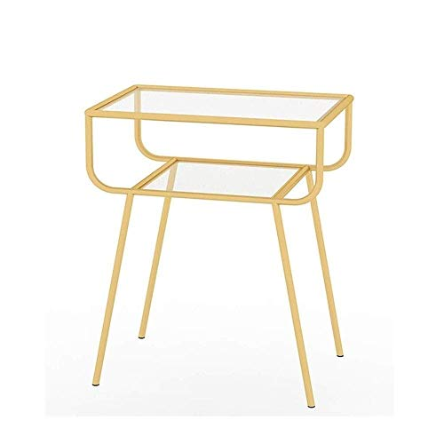 Sofa Small Side Table Bedroom Bedside Table Small Coffee Table Living Room Gold Iron Art Coffee Table Set Nordic Simple End Side Table Multifunction Small Table