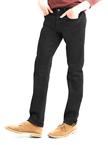 GAP Men's Black Selvedge Jeans in Slim Fit with GapFlex Stretch (40x30)