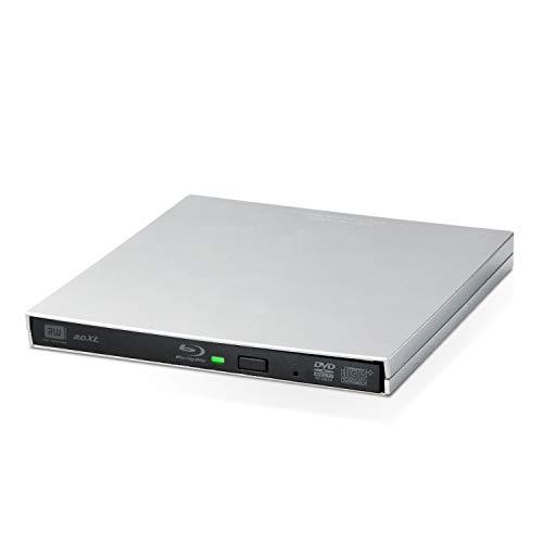 ロジテック 外付け ブルーレイ ドライブ Mac対応 USB3.2(Gen1) Roxio toast19 付属 USB type Cケーブル付 M-DISC対応 シルバー LBD-PVD6U3CMSV