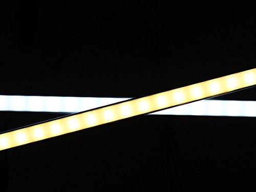 LEDPLAY Dimmbar Alu LED Lichtleiste Kit mit Magnet Unterbaubeleuchte Küche Schreibtisch Beleuchtung 35cm 6W USB 2.0 Touch Dimmer - Warmweiss