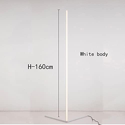 YAS Eking Lámpara de pie de esquina LED Lámparas de pie Simple Nordic Compatible con la sala de estar Decoración Control remoto Luces de piso Iluminación Dormitorio Lámpara (Color : Warm white)