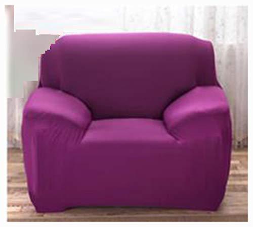Cuatro estaciones todo incluido funda de sofá elástica sala de estar combinación de tela cubierta completa cubierta de sofá antideslizante sofá toalla sofá cojín CandyPurple 1xCushionCover(45x45cm)