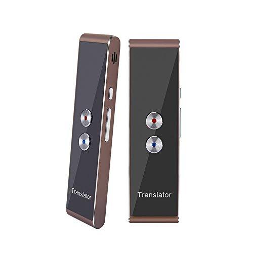 Tragbarer, intelligenter Übersetzer mit 40 Sprachen, Sprachübersetzer in Echtzeit-Sprache, Bluetooth Smart Pocket Interpreter (T8-Braun)