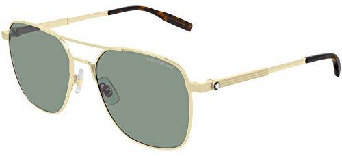 Mont Blanc Hombre gafas de sol MB0093S, 003, 56