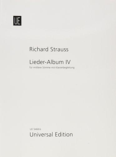Lieder-Album: Band 4. für mittlere Stimme und Klavier. mittel