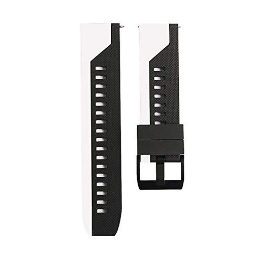 RHBLHQ 20 mm 22 mm Correa de Silicona Suave Reloj de Reloj de reemplazo de la Banda de la Banda 42mm / 46mm Correa de Silicona (Band Color : F1, Size : 22MM)