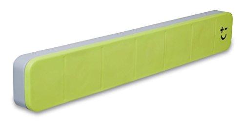 Bisbell 17213 - Barra magnética goma de máximo 5 cuchillos de 30 cm, color verde