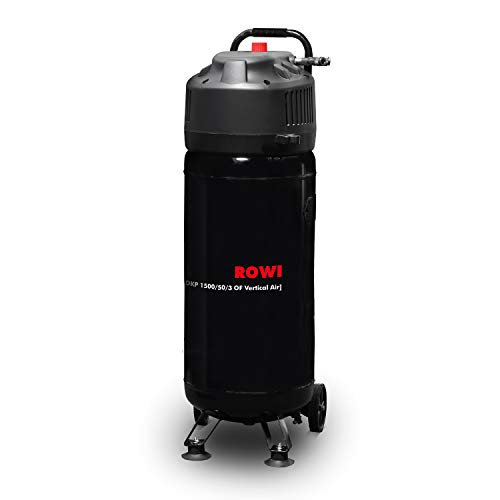 ROWI Druckluft Kompressor 1500 W, Ölfrei, 50 Liter