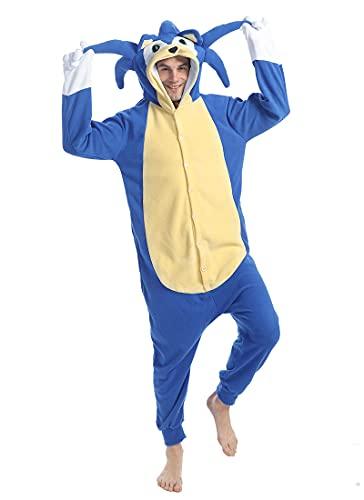 wotogold Pijama Animal Erizo Azul Disfraces de Cosplay Unisex para Adultos Azul XL