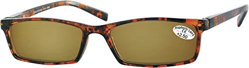 L33 Opticollection Gafas de Lectura para vista cansada con Funda Tela a juego Hombre | Mujer | Lentes Graduadas para Presbicia: +1/ +1.5/ +2/ +2.5/ +3/ +3.5 (+2.50, Habana-Sol)