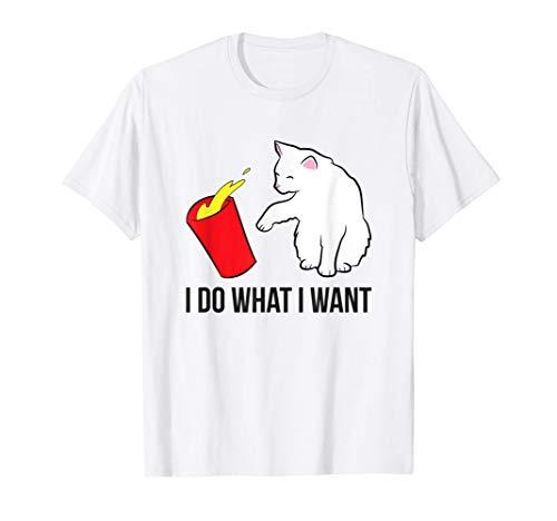 Gato hago lo que quiero Gatos divertidos Camiseta