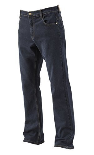 Lee Cooper Workwear - Jeans da uomo in denim elasticizzato , Navy, 38W/29L (Short)