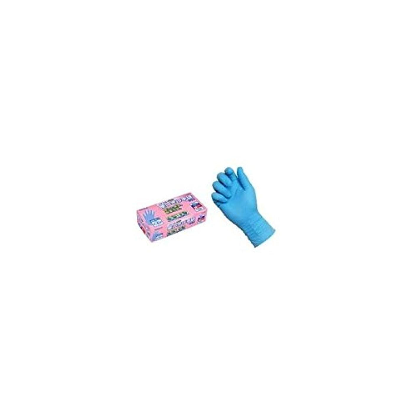 減衰食品成人期ニトリル使いきり手袋 PF NO.992 M ブルー エステー 【商品CD】ST4779