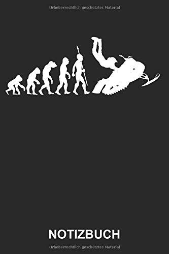Notizbuch: Schneemobil Motorschlitten Schneemotorrad Wintersport Schnee Winter Sport Evolution | Lustiges Niedliches Tagebuch, Notizheft, Schreibheft ... mit Linien | 120 Seiten liniert | Softcover
