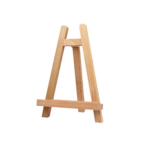 Healifty 27.5cm Mini Wood Display Easel Tabletop Easel Artist A-Frame Easel Photo Painting Portable Tripod Holder Stand
