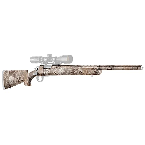 GunSkins Rifle Skin - Premium Vinyl Gun Wrap with Precut Pieces - Easy to Install and Fits Any Rifle - 100% Waterproof Non-Reflective Matte Finish - Made in USA - Kryptek Nomad