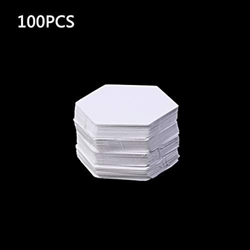 yhdcc44 100pcs Sechseck Vorlagen für Patchwork-Papier, Quilten Sewing Craft DIY sechs Größen