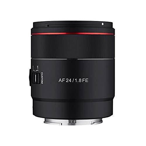 Samyang Objetivo AF 24 mm F1.8 Sony FE Tiny para ASTROFOTOGRAFIA – Autoenfoque Completo y Gran Angular APS-C para Sony E, FE, E-Mount para Sony Alpha A9 A7 A7c A6000 A5000 Nex