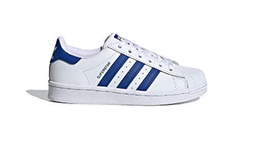 adidas Superstar, Sneaker Unisex-Child, Footwear White/Team Royal Blue/Footwear White, 34 EU