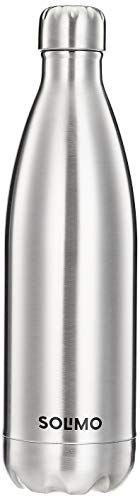 Amazon Brand - Solimo Stainless Steel Insulated Flask 24 Hours Hot Or Cold (Silver,1000 ml)