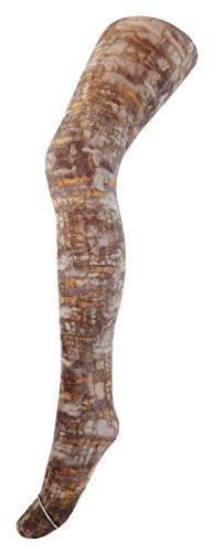 Fibrotex Damen Strumpfhose bedruckt Print Strumpfhose, Größe:L, Farben alle:mix 1 bunt