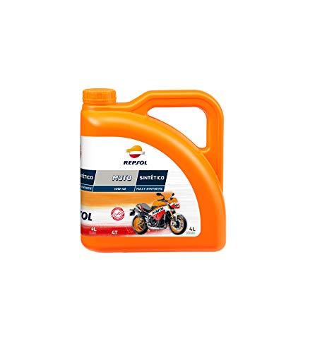 REPSOL Moto Sintetico 4T 10W-40 Aceite De Motor Para Moto, 4l