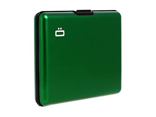 Ogon- Big Stockholm Green Aluminium wallet bank note size