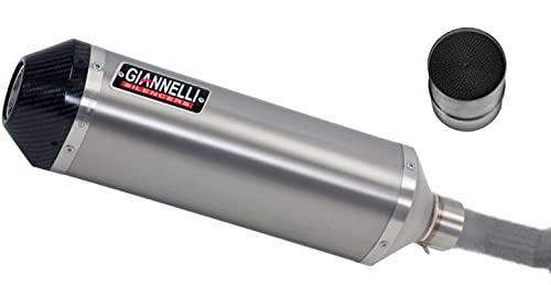 giannelli tubo de escape homologado catalizado ipersport titanio compatible con ktm duke 125 2011 2012 2013 2014 2015 2016 mototopgun 73784t6sy + 70514ct
