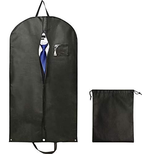Leynatic Hohe Qualität Kleidersack Suit, atmungsaktive Travel Suit Bag mit Tragegriffen Durable Garment Covers für Kleider, Anzüge und Jacken - Set von 2 Stück