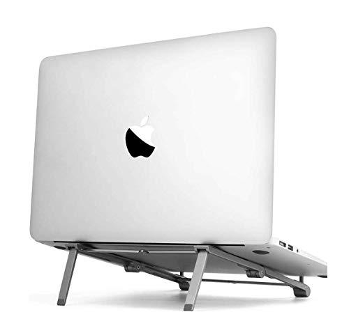 AICase Supporto PC Portatile,Angolazione Regolabile Portatile Pieghevole PC Stand,Supporto per Computer Portatile per iPad e dell, HP, Samsung, Lenovo Tutti i Notebook da 10  a 17