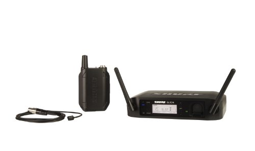 Shure GLXD14/93 Rechargeable Digital Wireless Microphone System for Presenters with GLXD4 Receiver, GLXD1 Bodypack and WL93 Omnidirectional Miniature Lavalier Mic