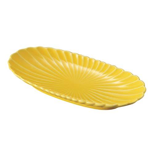 結彩の蔵(YUSAINO-KURA)『黄菊形 楕円皿(ホ088-176)』