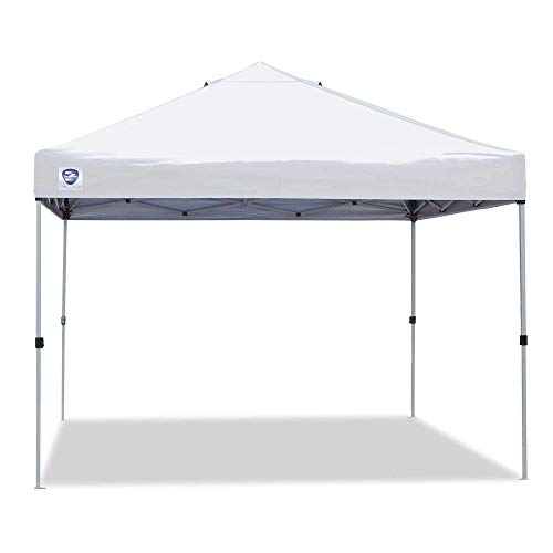 Z-Shade 10' x 10' Straight Leg Portable Instant Shade Tent Outdoor Canopy, White